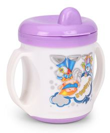 Purple Turtle Flip It Feeding Cup White And Purple - 210 ml