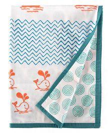Little Bum Baby Boats Print Blanket - Multicolor