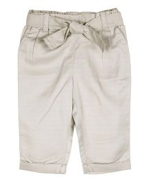 ShopperTree Solid Color Pant With Belt - Grey