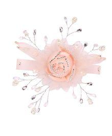 Cutecumber Alligator Clip Floral Applique - Peach