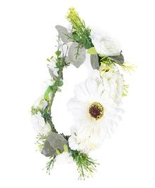 Cutecumber Floral Tiara - White
