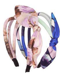 Cutecumber Fabric Hair Band With Applique - Purple Blue