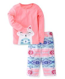 Carter's 2-Piece Neon Cotton & Fleece PJs
