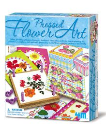 4M Pressed Flower Art Kit - Blue
