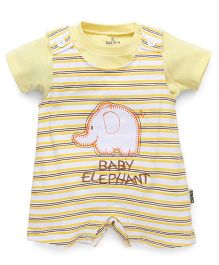 Child World Dungaree Romper Elephant Patch - Yellow