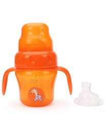 Mee Mee 2 In 1 Spout And Straw Training Cup Orange - 150 ml