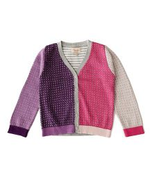 Weedots Full Sleeves Cardigan - Multicolor