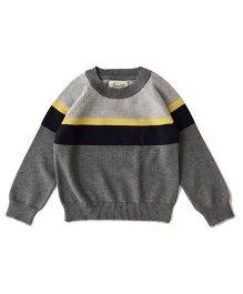 Weedots Babyhug Full Sleeves Sweater - Grey