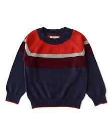 Weedots Babyhug Full Sleeves Sweater - Red Navy