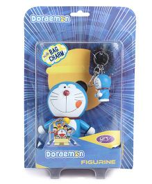Doraemon Figurine With Key Chain Blue - Height 10 cm