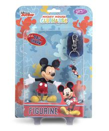 Disney Mickey Mouse Figurine With Key Chain Multicolor - Height 10 cm