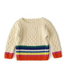 Weedots Full Sleeves Sweater - Multicolor