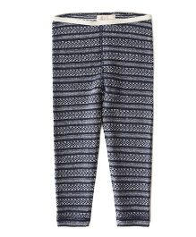 Weedots Full Length Stretch Leggings Aztec Print - Navy