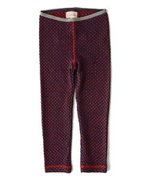 Weedots Full Length Stretch Leggings Polka Print - Multicolor