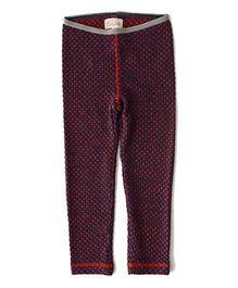 Weedots Full Length Stretch Leggings Polka Print - Multicolor