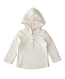 Weedots Full Sleeves Hooded Sweatshirt - White