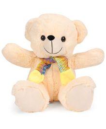 Funzoo Teddy Bear With Muffler Dark Cream - 30 cm
