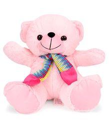 Funzoo Teddy Bear With Muffler Pink - 30 cm