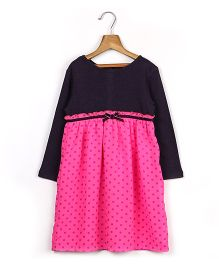 Beebay Full Sleeves Polka Dot Party Dress - Purple