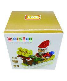SmartCraft Loz Santa Claus With Sleigh Block Set - 180 Piecces