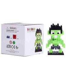 Smartcraft Loz Nanoblock Superhero Hulk Kit - Green