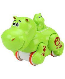 SmartCraft Press And Go Funny Hippo - Green