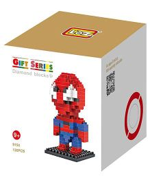 Smartcraft Loz Nanoblock Superhero Kit Spiderman Red - 130 Pieces