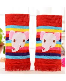 Milonee Stripe With Elephant Print Knee Protector - Red