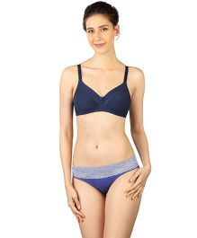 Triumph Non-Padded Non-Wired Maternity Bra - Navy Blue