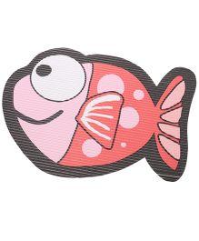 Fish Design Floor Mat - Peach Pink