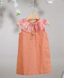 Love The World Today The Ramen Tie & Dye Printed Dress - Peach