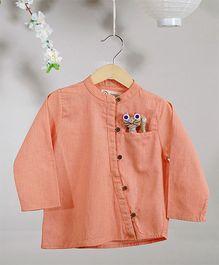 Love The World Today The Fuji Monk Shirt - Peach