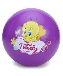 Tweety Beach Ball Print Purple - 59 cm