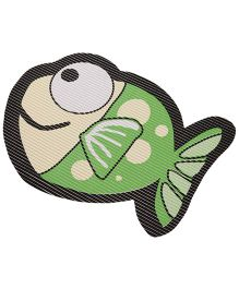 Fish Shaped EVA Table Mat - Light Green