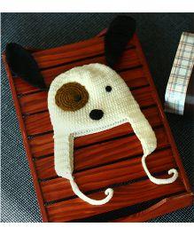 Nappy Monster Puppy Crochet Cap - White