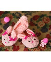 Nappy Monster Bunny Booties - Pink
