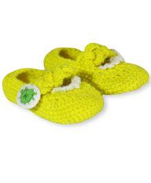 Nappy Monster Booties - Neon Yellow