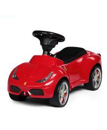 Rastar Ferrari 458 Manual Push Car Ride On - Red