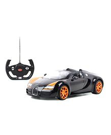 Rastar Remote Control Bugatti Car Toy - Black