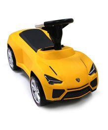 Rastar Lamborghini Urus Manual Push Car Ride On - Yellow