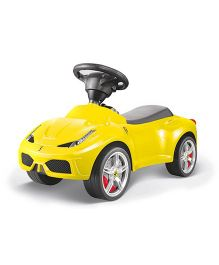 Rastar Ferrari 458 Manual Push Car Ride On - Yellow