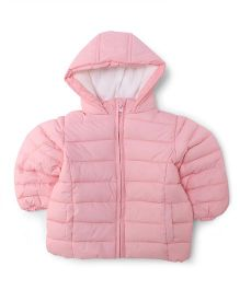 Fox Baby Full Sleeves Hooded Jacket - Pink