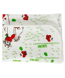 Baccha Essential Cow Print Blanket  - Red & Blue