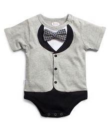 Frenchie Tuxedo Styled Onesie - Grey