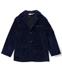 Beebay Full Sleeves Party Jacket - Navy Blue