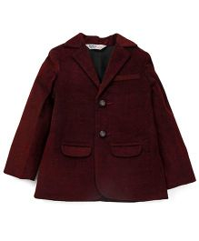 Beebay Full Sleeves Blazer - Maroon