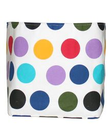 Kadambaby Toy Storage Bin Polka Dot Print - Multicolor