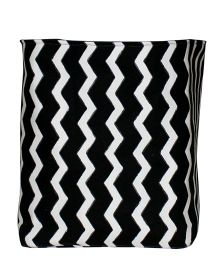Kadambaby Toy Storage Bin Chevron Stripes - Black White