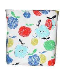 Kadambaby Toy Storage Bin Apple Print - Multicolor