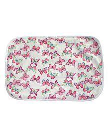 Kadambaby Diaper Changing Mat Butterfly Print - Pink White